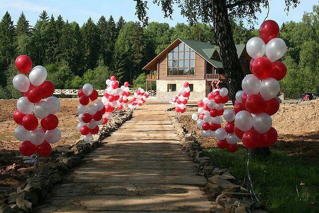 Оформление двора для свадьбы своими руками фото